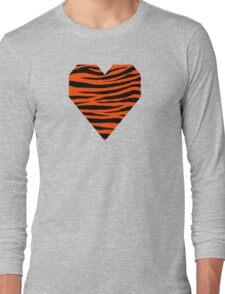 0474 Orange Red Tiger Long Sleeve T-Shirt
