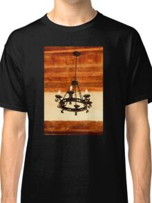 Mission Chandelier with Anachronistic Lightbulbs Classic T-Shirt