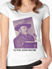 Elton John Wayne (Limited Edition) Women's Fitted Scoop T-Shirt