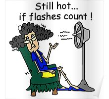 Sarcasm Humorous Hot Flashes Poster