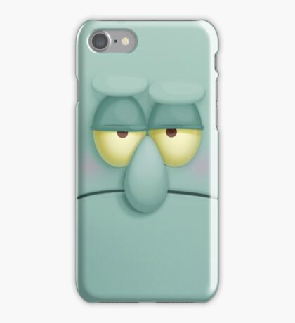 Funny Face Squidward iPhone Case/Skin