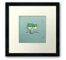 Funny Face Squidward Framed Print