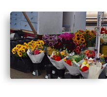 farmers market flowers Canvas Print
