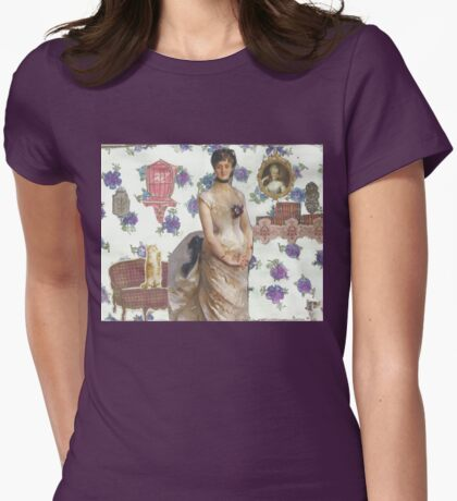 Pretty Purple Flowers Womens Fitted T-Shirt