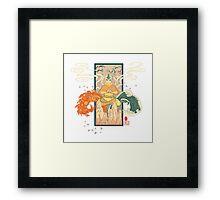 Avatar the Last Airbender - Aang Woodblock Framed Print