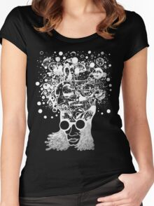 Bubbling Mind  Women's Fitted Scoop T-Shirt