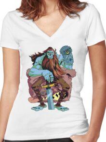 BILLYYYYYYYYYYYY Women's Fitted V-Neck T-Shirt