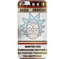 Wanted Rick iPhone Case/Skin