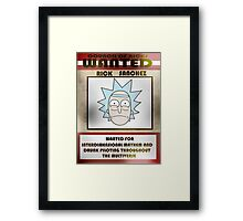 Wanted Rick Framed Print