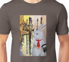 White Rabbit in Venice Unisex T-Shirt