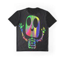 Rainbow Skeleton Graphic T-Shirt