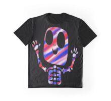 Patriotic Skeleton Graphic T-Shirt