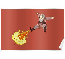 Iroh Fire Bender Poster