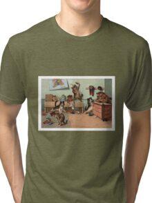 Louis Wain - Kittens Creating a CATastrophy Tri-blend T-Shirt