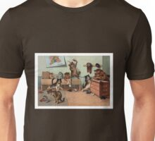 Louis Wain - Kittens Creating a CATastrophy Unisex T-Shirt