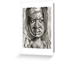 Michonne caricature art by Sheik Greeting Card
