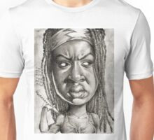 Michonne caricature art by Sheik Unisex T-Shirt