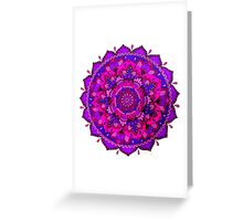 Pink & purple mandala Greeting Card
