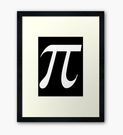 Pi White Framed Print