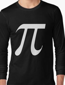 Pi White Long Sleeve T-Shirt