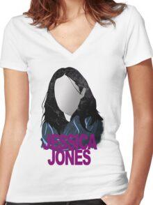 Jessica Jones Women's Fitted V-Neck T-Shirt