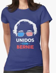 Unidos Con Bernie Shirt and Fundraising Gear Womens Fitted T-Shirt