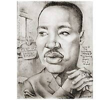 MLK caricature drawing by Sheik Photographic Print
