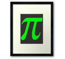 Pi - Green Lima Framed Print