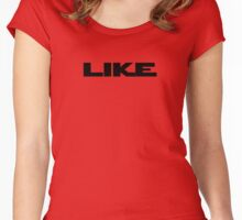 Like Teenage Say - Repeat Like Continuously T-Shirt in Black Women's Fitted Scoop T-Shirt