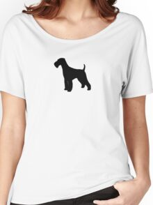 Airedale Terrier Silhouette Women's Relaxed Fit T-Shirt
