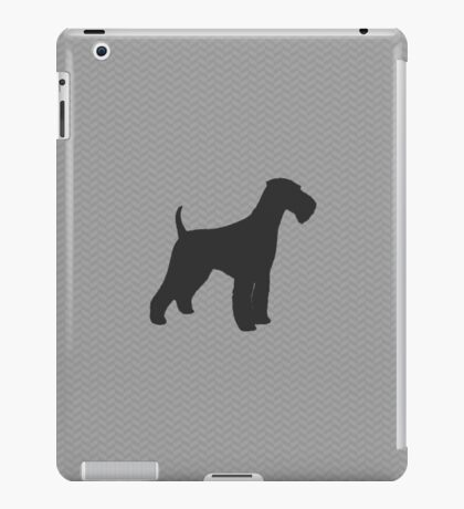 Airedale Terrier Silhouette(s) iPad Case/Skin