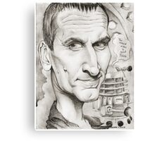 9th Doctor by Sheik Canvas Print