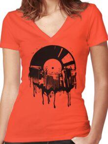 Music City Women's Fitted V-Neck T-Shirt