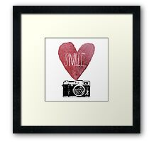 Smile - Photography Love Framed Print