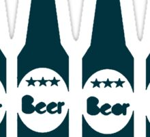 Six Pack Beer - Bier T-Shirt - Fitness Drinking Abs Sticker Sticker