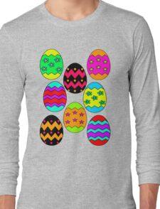 Easter Egg Collage Long Sleeve T-Shirt