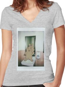 Haircut Women's Fitted V-Neck T-Shirt