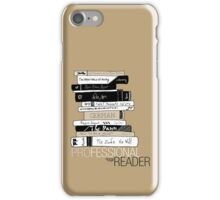 Professional Reader (Brown) iPhone Case/Skin