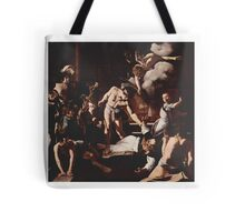 The Martyrdom of Saint Matthew, Caravaggio, Tote Bag