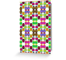 Easter Egg Pattern Greeting Card