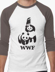 panda wwf Men's Baseball ¾ T-Shirt