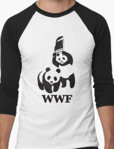 panda wwf Men's Baseball ¾ T-Shirt