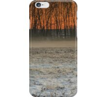 Fog on sunset iPhone Case/Skin