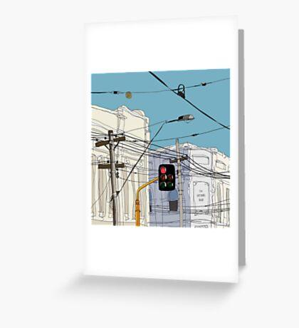Melbourne Street Scene Greeting Card