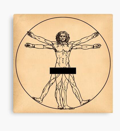 Vitruvian Man Canvas Print