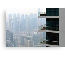 Photography of tall buildings from Dubai, UAE. Canvas Print
