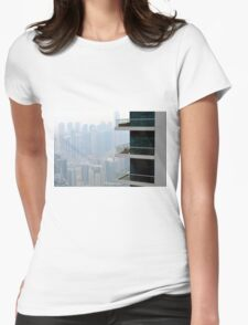 Photography of tall buildings from Dubai, UAE. Womens Fitted T-Shirt