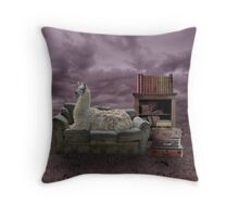 Intelectual Llama Throw Pillow