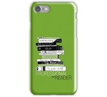 Professional Reader (Green) iPhone Case/Skin