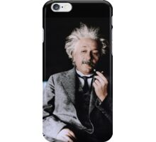 Albert Einstein Color s Pipe iPhone Case/Skin